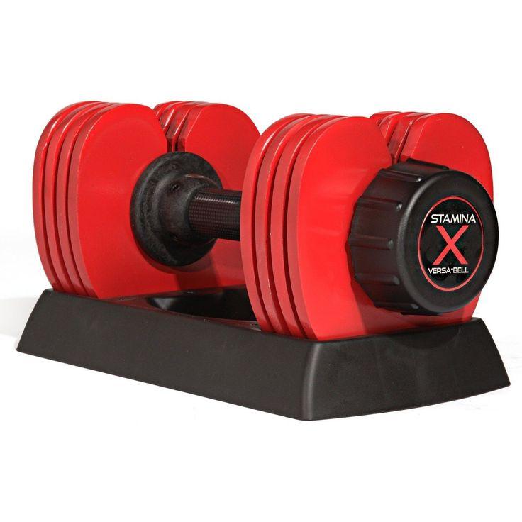 Stamina X Versa-Bell 10-50 lb Adjustable Weight Dumbbell 05-2150B NEW