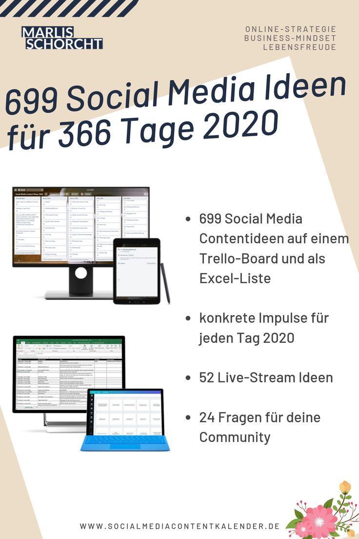 699 Social Media Ideen Fur 2020 Redaktionsplan Vorlage Live Stream Ideen Und Mehr In 2020 Themen Zum Schreiben Soziales Medienmarketing Excel Vorlage