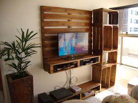 Painel para tv, estante e mesa de centro