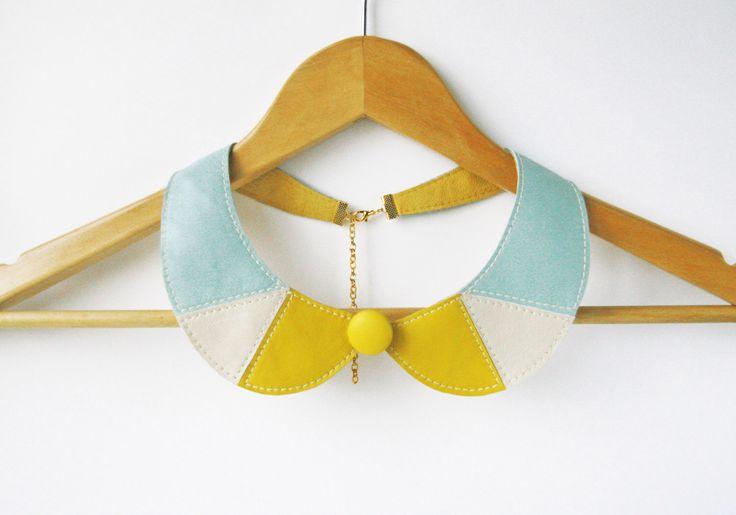 Minze gelbe Halskette Peter Pan abnehmbares Lederhalsband - Leder-Hosen-Halskette-Geschenk-Idee von SmArtAnna auf Etsy https://www.etsy.com/de/listing/126296938/minze-gelbe-halskette-peter-pan