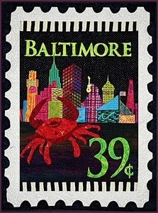 NEED for hubby: Baltimore City Stamp Maryland Crab Zebra Quilt Pattern