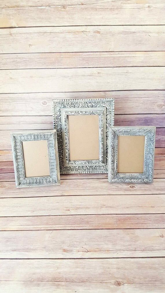 French Country Frames | Set of 3 Vintage Frames | 3 Ornate Picture Frames | Antique White Picture Frames | Vintage Chic Home Decor by CraftyMcDaniel on Etsy https://www.etsy.com/listing/566407611/french-country-frames-set-of-3-vintage