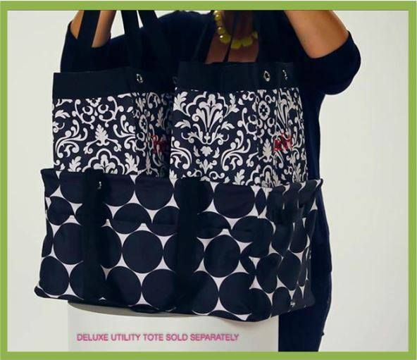 Thirty One Gifts 2 Essential Storage Totes Fit In The Deluxe Utility Tote