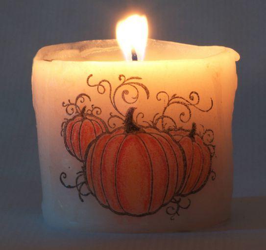 Candele di halloween fai da te
