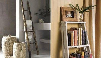 Pon una escalera vieja en tu decoración - http://decoracion2.com/pon-una-escalera-vieja-en-tu-decoracion/62850/ #Decorar, #DecorarEscalerasViejas, #Escaleras, #EscalerasViejas
