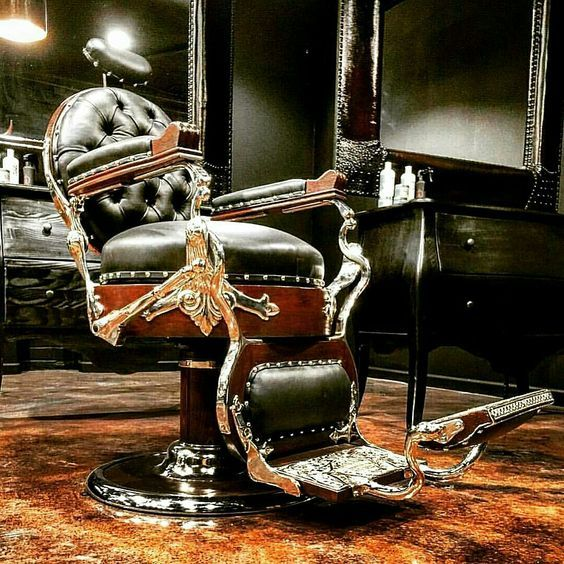 I love the design of these classics.  Always wanted a man cave with a Barbers Chair.
