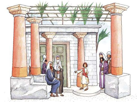 Jesús enseñando en el templo