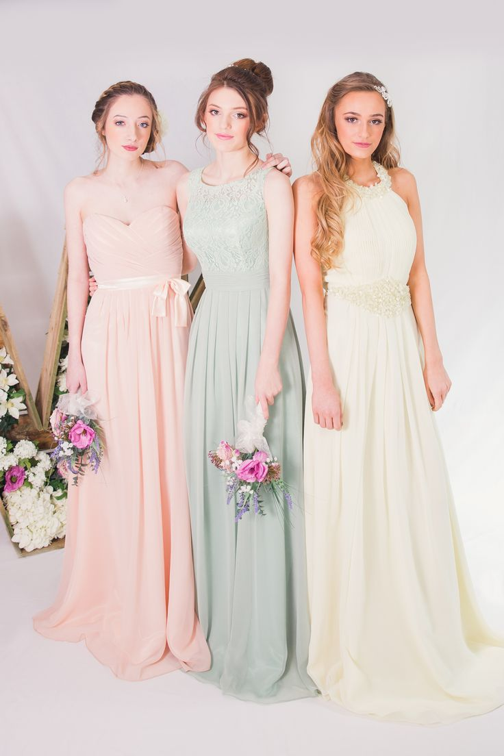 Ms de 25 ideas increbles sobre pastel colour bridesmaid dresses pastel coloured bridesmaids dresses the white wedding lounge by vk ombrellifo Image collections
