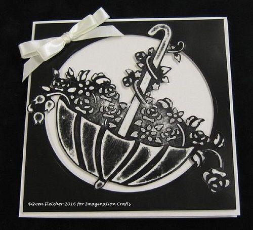 Floral Umbrella stencil.