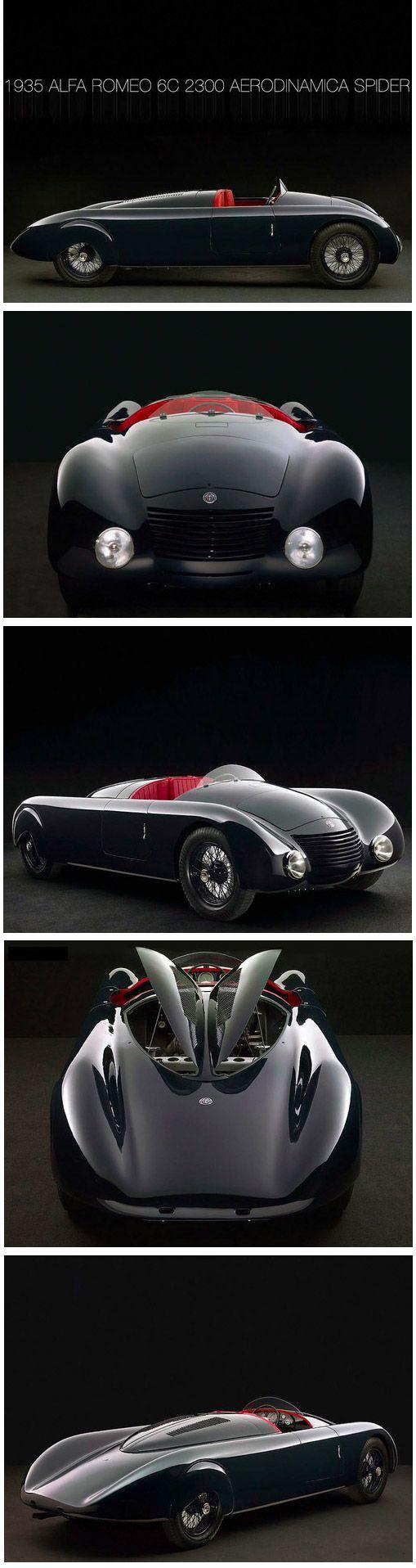 ❤ The Best of Alfa Roméo... ❤ (1935 Alfa Roméo 6C 2300 Aerodinamica Spyder)