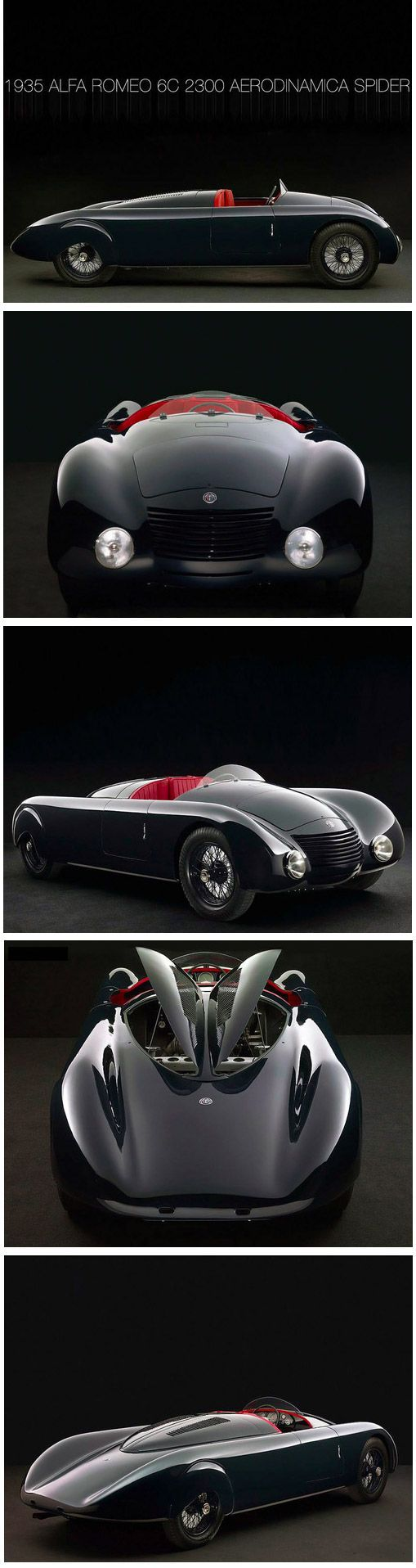 ❤ The Best of Alfa Roméo... ❤ (1935 Alfa Roméo 6C 2300 Aerodinamica Spyder)