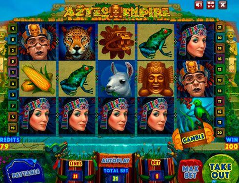 Казино Вулкан на реальные деньги - Aztec Empire. Игровой онлайн автомат Aztec Empire отличается графикой высокого качества, как и большинство других слотов от Playson. Это один из немногих аппаратов в казино Вулкан, который посвящен культуре и обычаям индейцев.