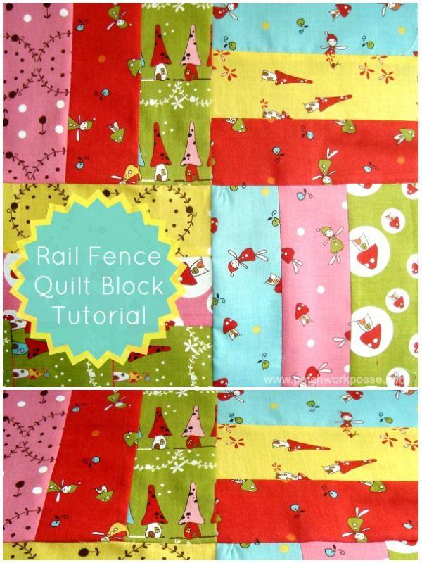 Rail Fence Quilt Block Tutorial #quiltblock #tutorial | patchwork posse