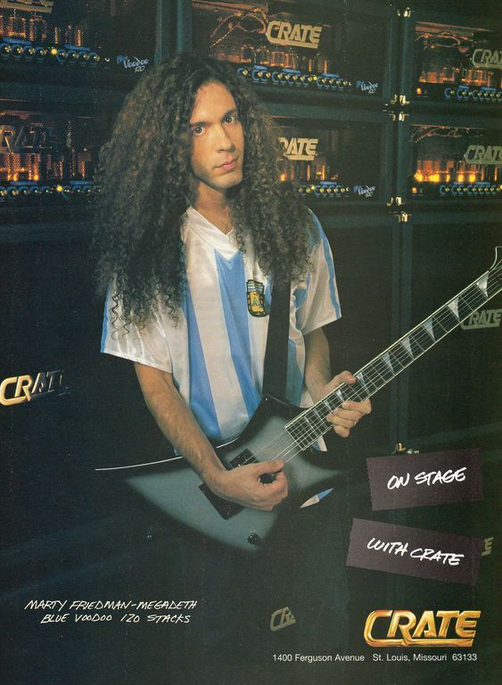 Marty Friedman, Megadeth - Crate Amps ad