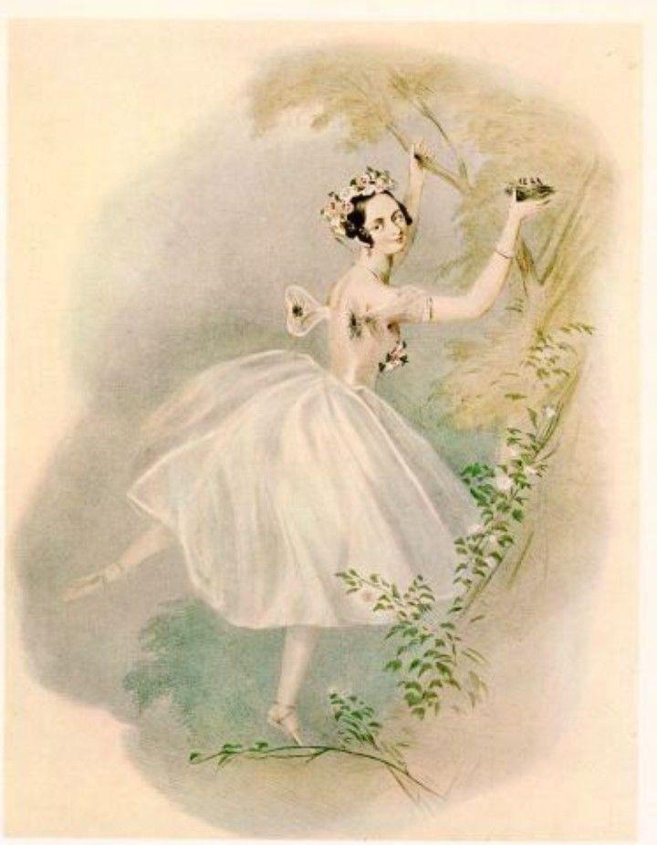 ballet art - vintage ballerina graphic