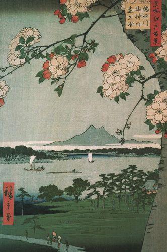 Suigin Grove and Masaki by Ando Hiroshige - art print from Easyart.com