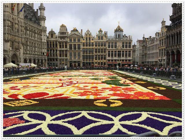 T&M podróżniczo: 20ᵗʰ Flower Carpet in Brussels / 20. Dywan kwiatowy w Brukseli