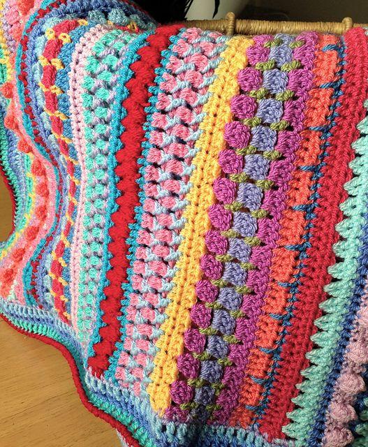 Ravelry: Multi-stitch Striped Blanket pattern by Lynne Samaan