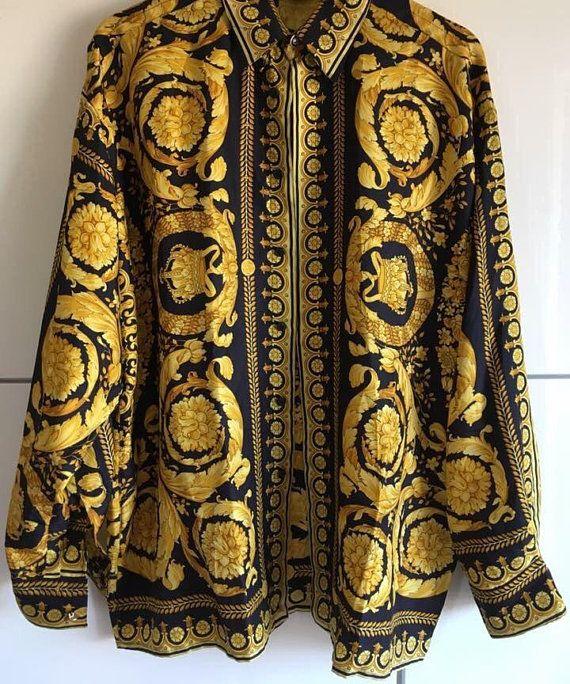 1c95fb5d Sale GIANNI VERSACE shirt by Gianni Versace Couture baroque | Shirt ...