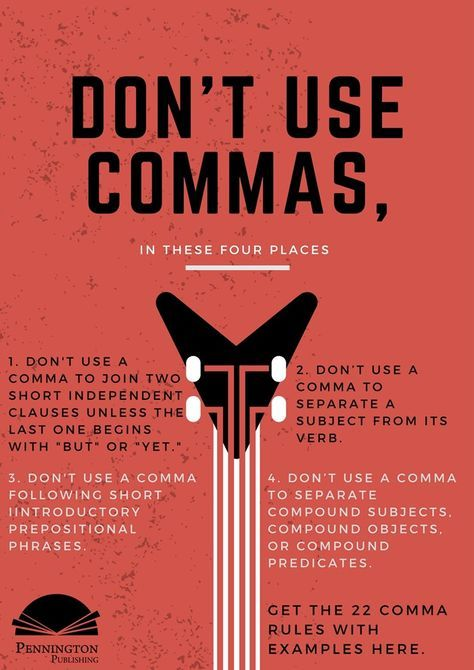 Check out the 22 Comma Rules with examples from Pennington Publishing's Grammar, Mechanics, Spelling, and Vocabulary (Teaching the Language Strand) grades 4, 5, 6, 7, and 8 programs. Time to learn those English grammar rules, mechanics, language conventions, and parts of speech.