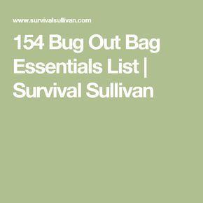 154 Bug Out Bag Essentials List   Survival Sullivan