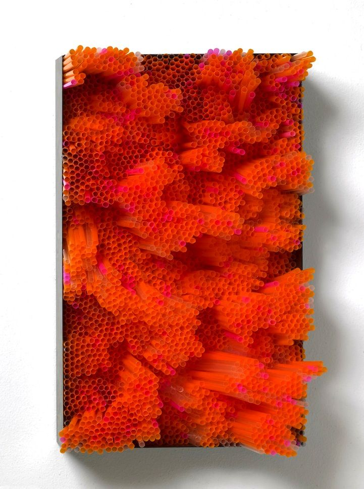 3D Straw Art Produces Beautiful Multi-Colored Layers
