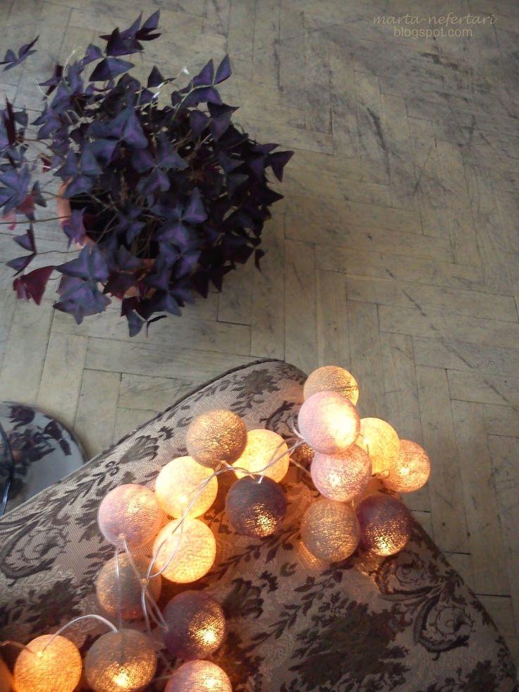 taniec szarych komórek: cotton ball lights
