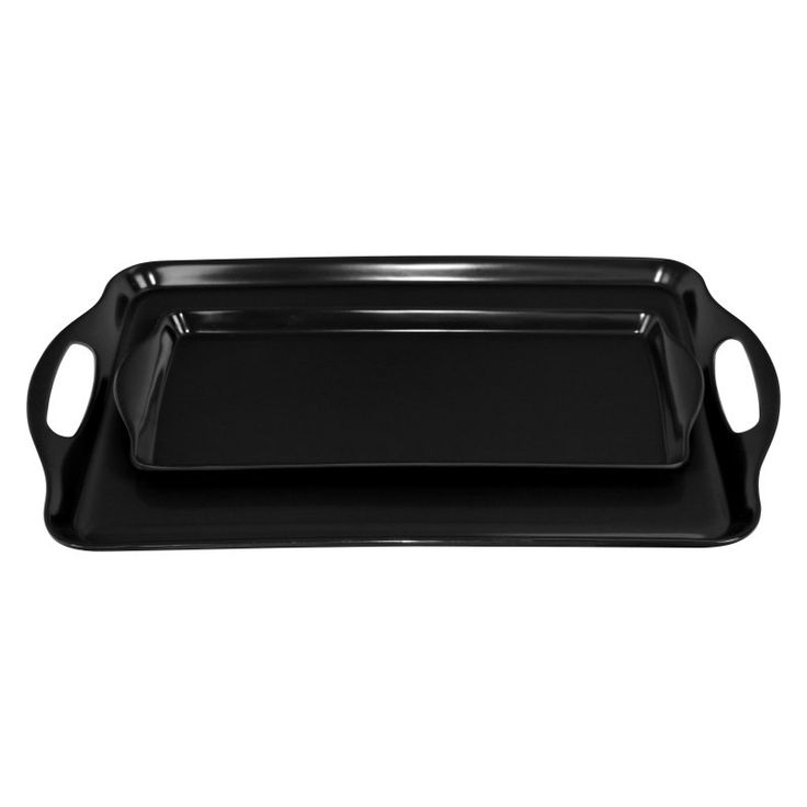 Calypso Basics 2 Piece Melamine Tray Set - 07910M
