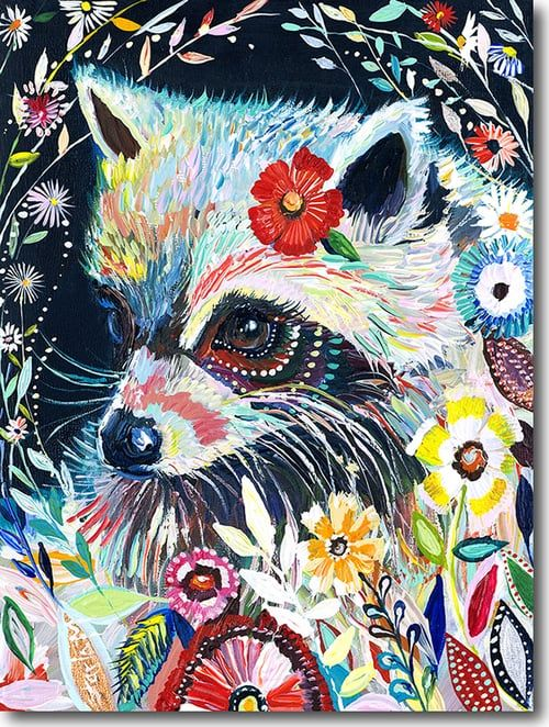 """""""R for Raccoon""""Click on the picture for a LimitedEdition Print."""