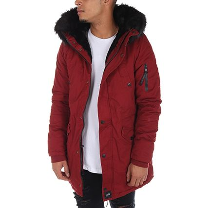 Sixth June - Parka M2000SOW Bordeaux Noir - LaBoutiqueOfficielle.com