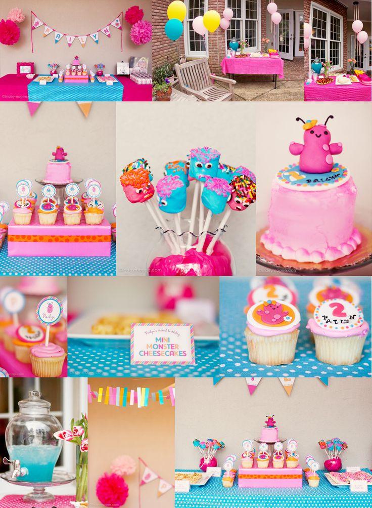 Cute girly monster party! Little Girls, Birthday Parties, Monsters Parties, Parties Ideas, 2Nd Birthday, Parties Theme, Party Ideas, Girls Parties, Birthday Ideas
