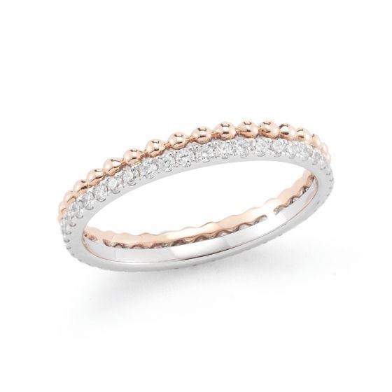 POPPY RAE: White Gold Rose Gold Diamond Band #PoppyRae #whitegold #rosegold #diamond #rings #DRDrings