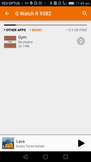 Google Play Music update adds improved controls for selecting which music is stored on Android Wear  In all the excitement this morning of the ad-supported, Google Play Music channel going live, the news of an update to the Google Play Music app sort of cruised right by.