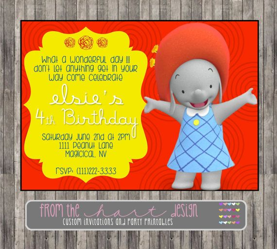 Disney Ella the Elephant Birthday Party by FromTheHartDesign