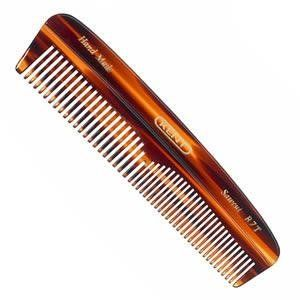 "Kent Hand-Made 143mm Pocket Coarse/Fine Comb - R7T by Kent. $9.20. 5 1/2"" by 1 1/8"". Teeth are half fine / half coarse. Hand made in England. medium size pocket comb. This comb is faux tortoiseshell, hand polished to glide through the hair without causing damage or scratching the scalp."