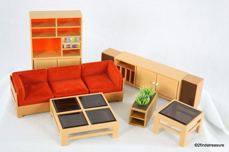 Tomy Vintage Doll House Living Room Furniture  #TOMY