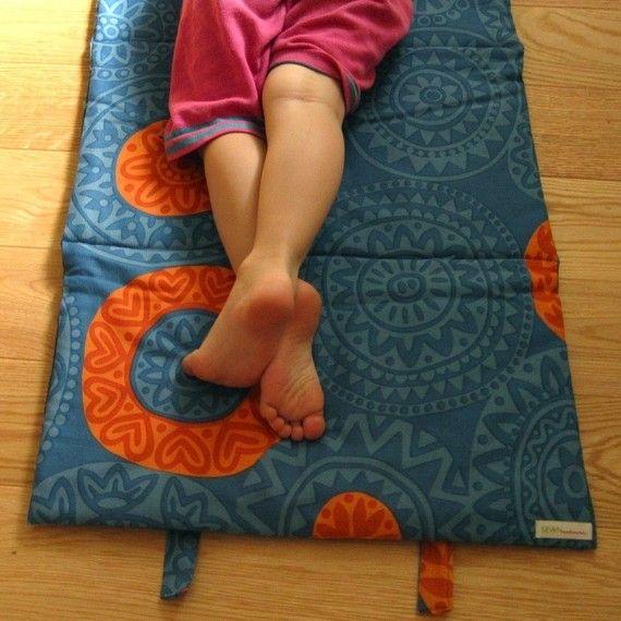handmade children's nap mats   sewn natural