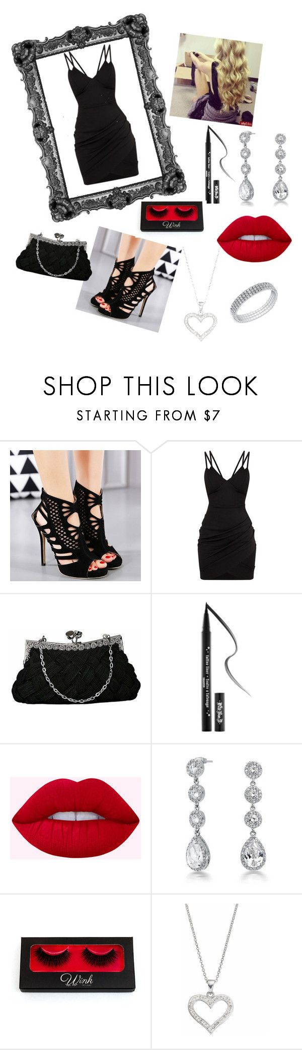 """""""Date night"""" by anakaconley on Polyvore featuring Kat Von D, Bling Jewelry and Silver Luxuries"""
