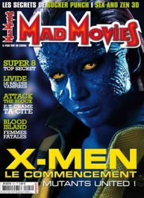 Mad Movies n°241, mai 2011.  LES FILMS : Le Chaperon rouge, Thor, Super 8, X-Men le commencement, Attack the Block, Livide ... DVD : Blood Island ITW : Steve Johnson  PIN-UP : Vonnie Lup