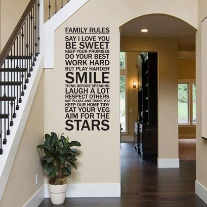 Family Rules Wall Art from Next Wall Stickers
