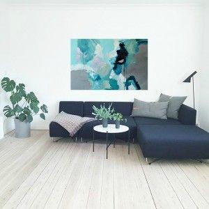 my art in a beautiful livingroom :)