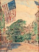Mount Vernon Street, Boston, 1919  by Childe Hassam