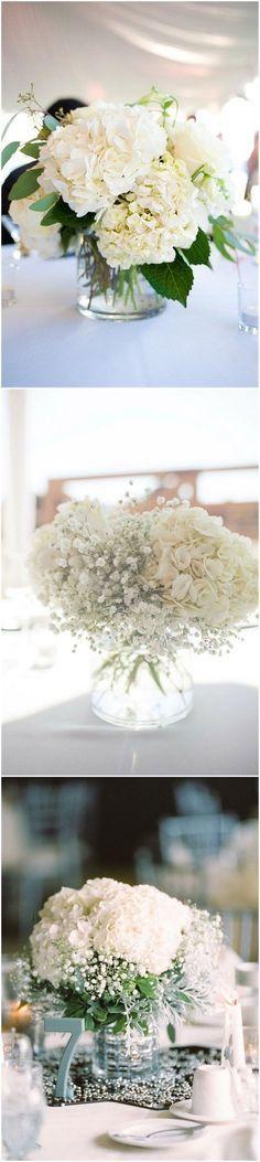 Wedding Centerpieces » 21 Simple Yet Rustic DIY Hydrangea Wedding Centerpieces Ideas » ❤️ See more: http://www.weddinginclude.com/2017/07/simple-yet-rustic-diy-hydrangea-wedding-centerpieces-ideas/ #simpleweddings