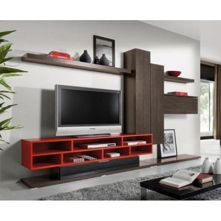 Mueble Modular Organizador Tv Lcd Melamina Ebano Design Rack Pinterest Tv Credenza Tv
