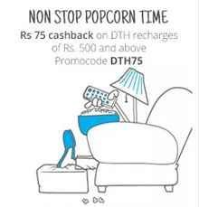 Paytm DTH Recharge April May Offer: Rs.75 Cashback On Min Rs.500 DTH Recharge - Best Online Offer