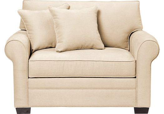 picture of Cindy Crawford Home  Bellingham Vanilla Sleeper Chair  from Sleeper Chairs Furniture $699