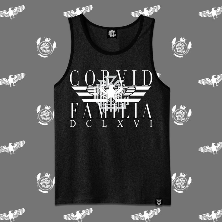 """Corvid Fam"" Tank Top Available at www.crmcclothing.co 