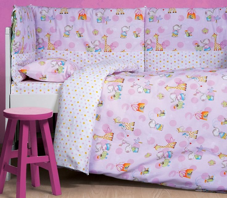 NEF-NEF Baby Collection AW14-15, σχέδιο Small Zoo Lilac. Σε πάπλωμα, πάντα, σεντόνια, κουβέρτα, πετσέτες, μπουρνούζι και κάπα.
