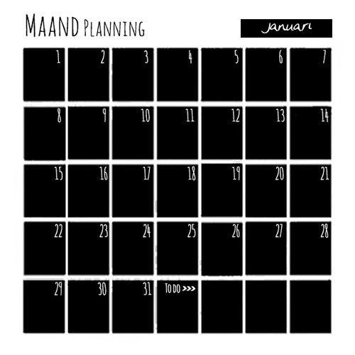 maandplanner magneet zelfklevend