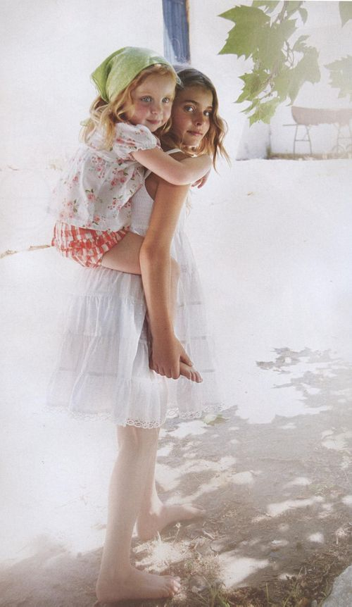 "Photo credit: Luciano Pergreffi. Scanned from Vogue Bambini, March/April 2011 from the story, ""Flowers Under the Sun"""